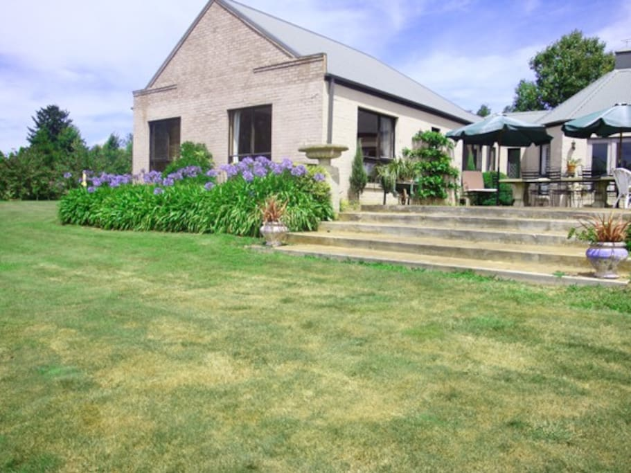 set on a private 2 acre property