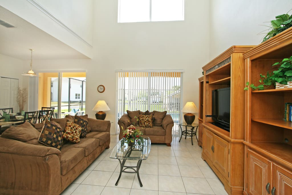 Spacious Living Area with 42-Inch LCD TV and DVD Player