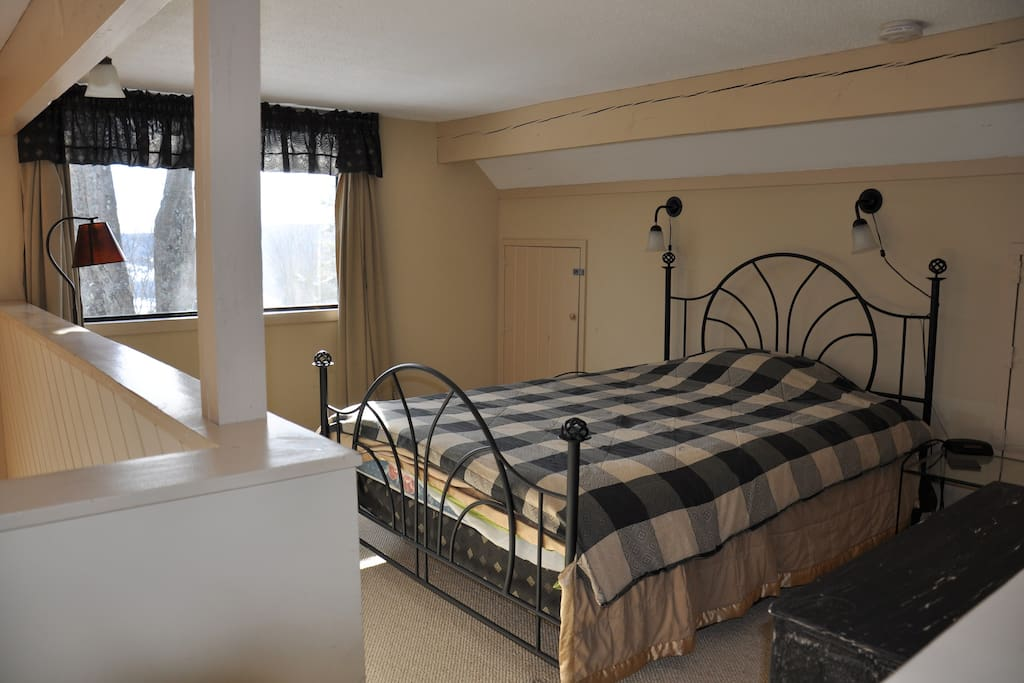 The upstairs bedroom.
