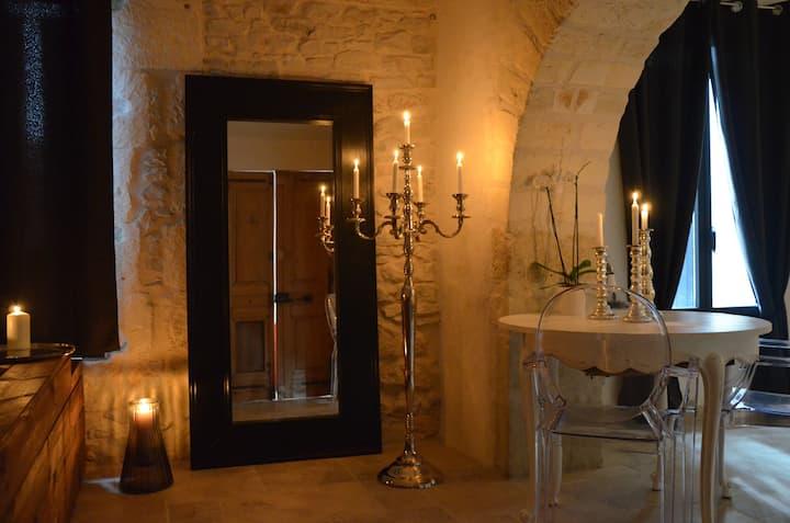 O²suites chambre baroque avec jacuzzi privé