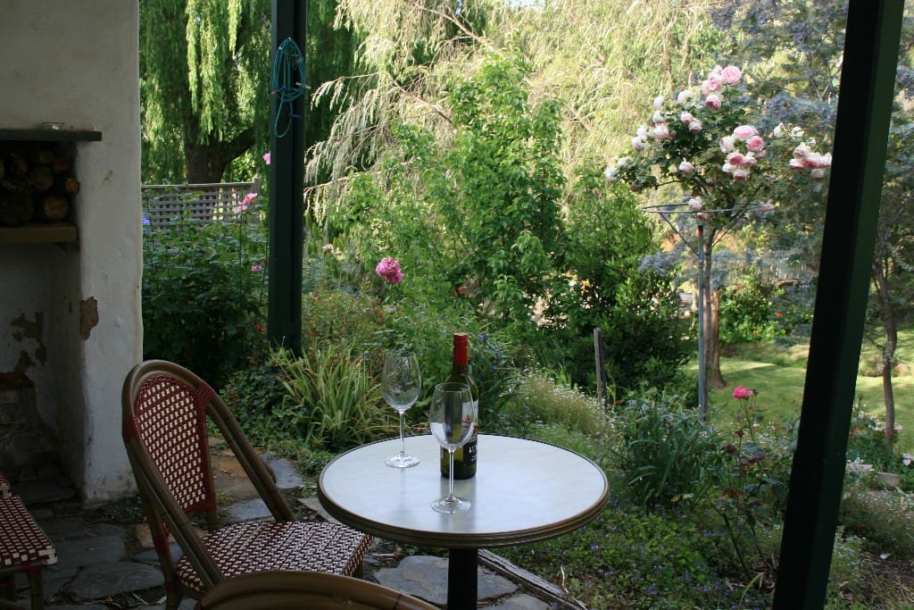 Relax in the wonderful garden with its own permanently running creek