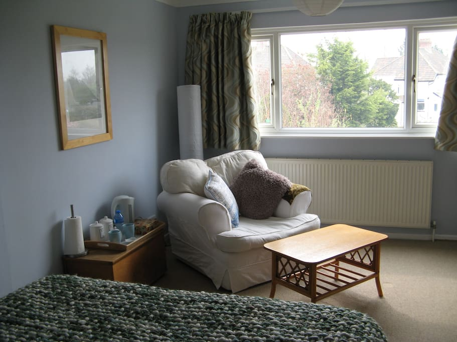 You get a birds eye view of the area from the room and its nice and quiet being at the back of the house