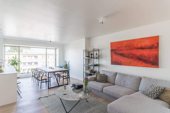 Renovated flat with an amazing view near Antwerp!