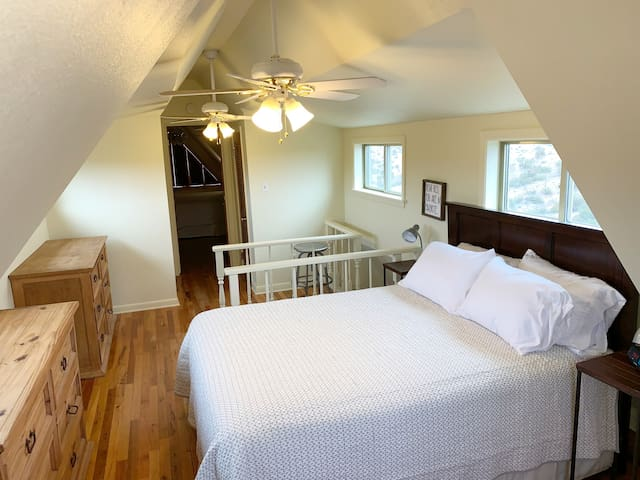 Upstairs queen size bed