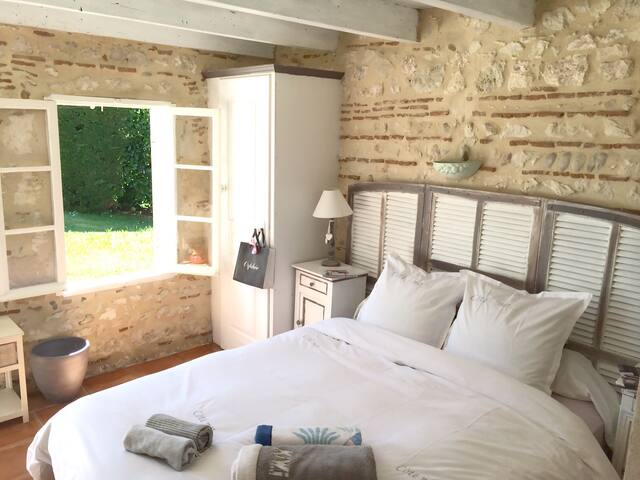 Room in a beautiful vineyard - Saint-Avit-Saint-Nazaire - Casa