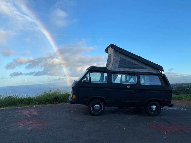 "1984 Vintage VW Westfalia Camper Bus ""Black Betty"""