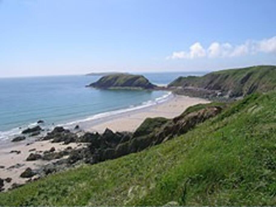 Magnificent Marloes Sands - featured in Snow White and The Huntsman