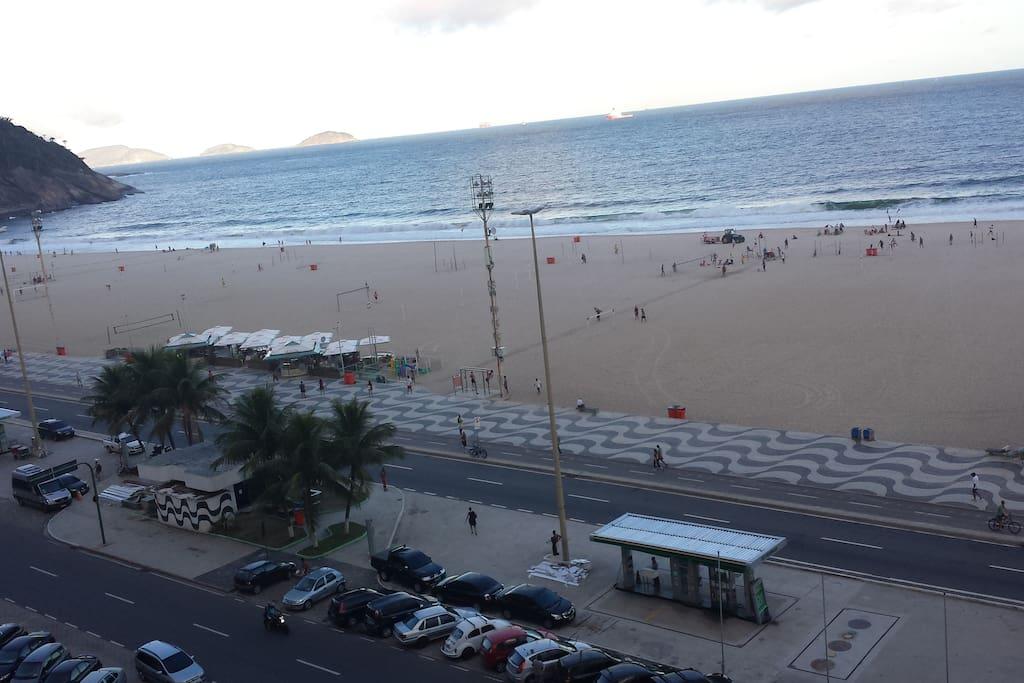 Vista para praia do Leme