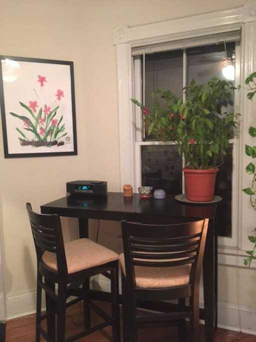 Dining area or workspace