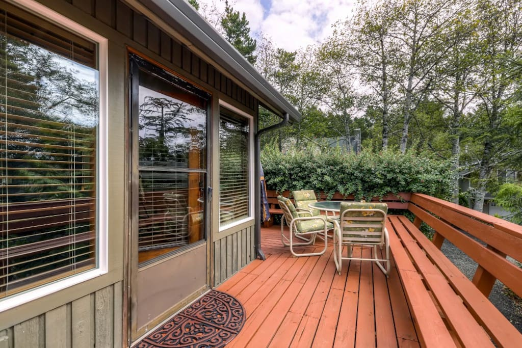 Enjoy home cooked meals outdoors on the private wraparound deck!