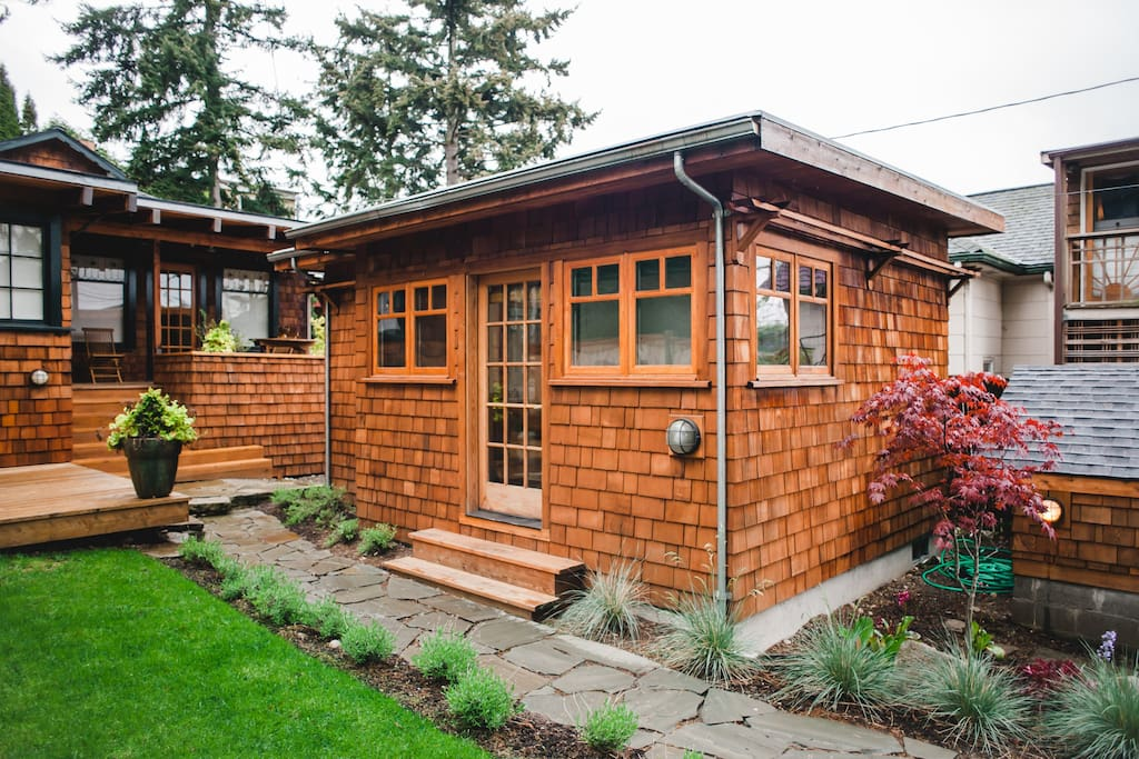 private studio cottage in fremont cabins for rent in