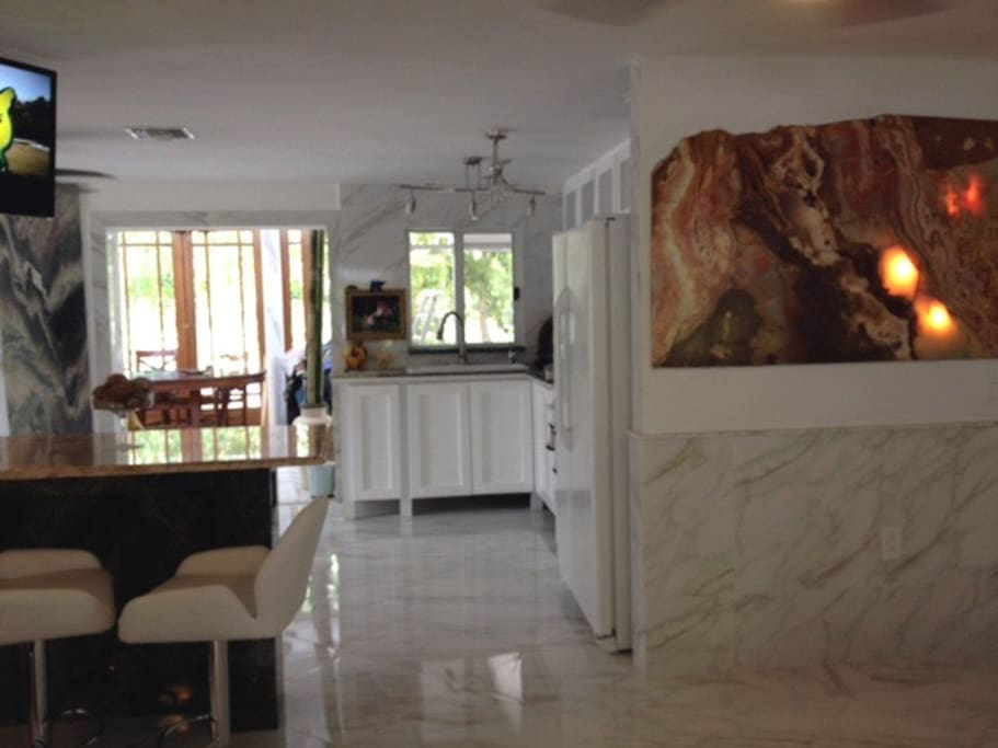 View from front door into kitchen