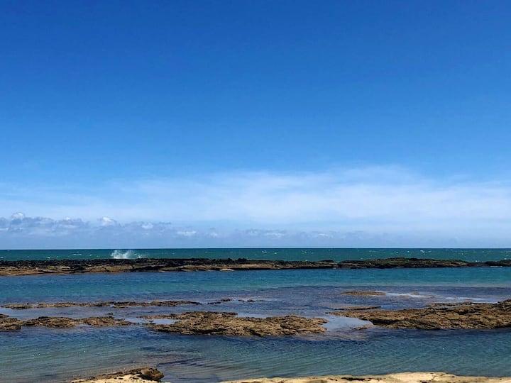 Casa em Arembepe a 200m praia, 6 pessoas. Ar condi