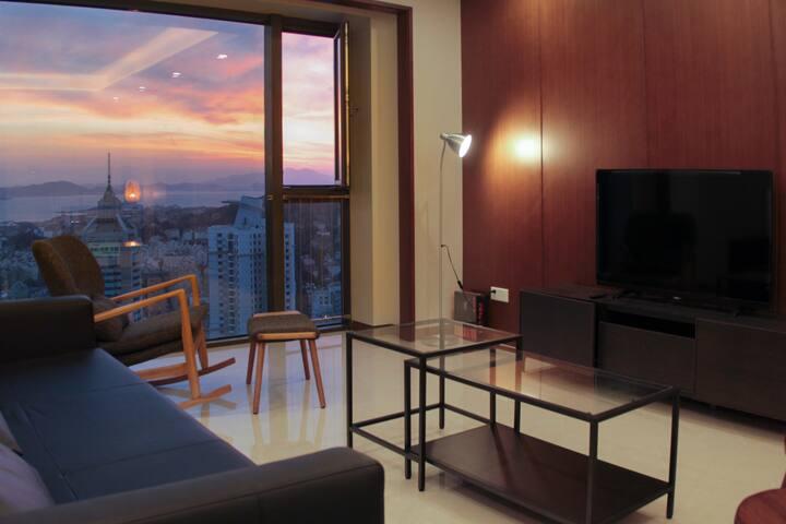五星级享受 超豪华海景 距五四广场地铁站3分钟 青岛最好的房子