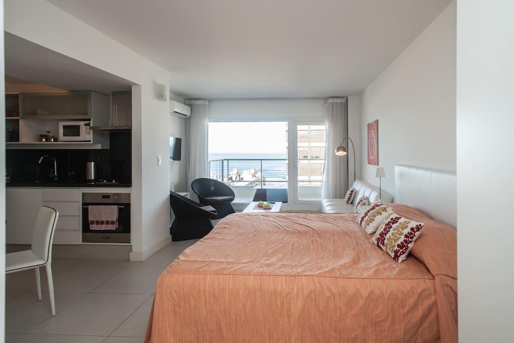 New studio in punta del este 3pax n 710 apartments for for Salon 7 puntas corrientes
