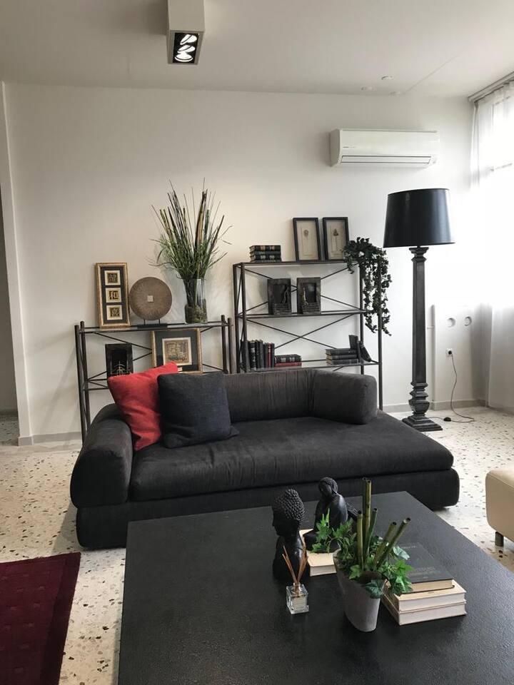 CasaGreek Athens Black Apartment Nea Filadelfia