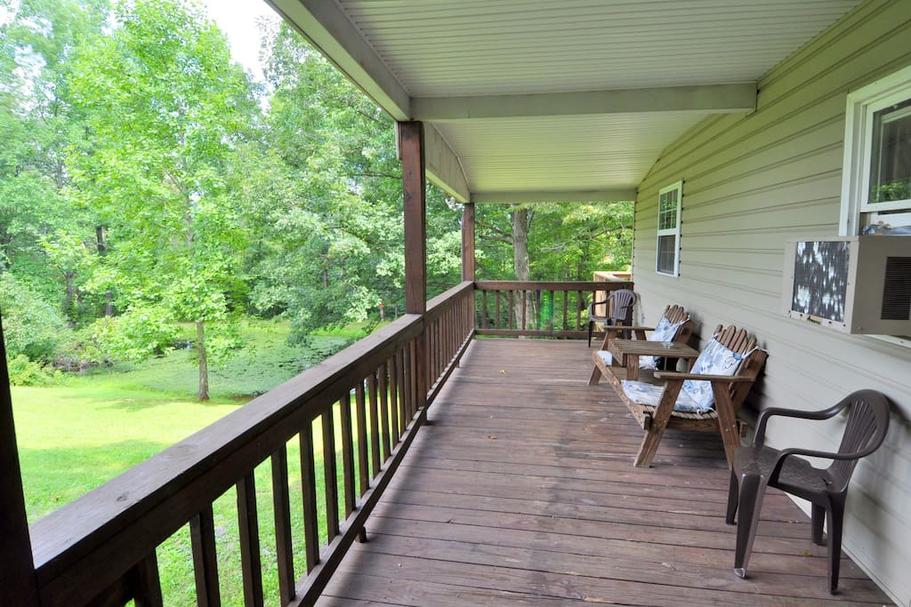 Bring along that book you've been dying to read - the covered porch is a great place to unwind!