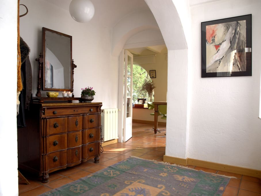 The downstairs entrance