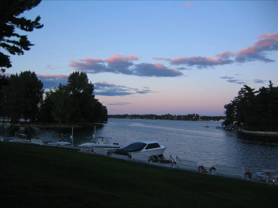 View of Florence and Belle Islands from chalet.