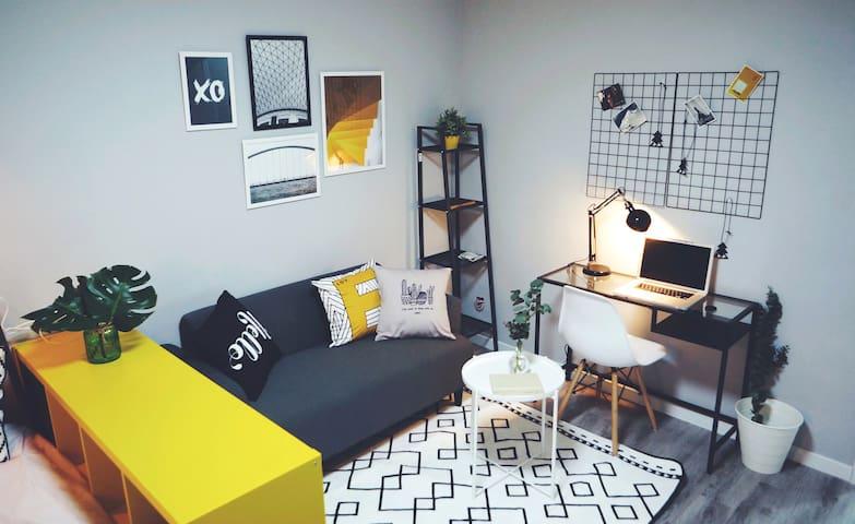 [顽家]法租界活泼北欧风公寓,新屋上线优惠月 - Şangay - Daire
