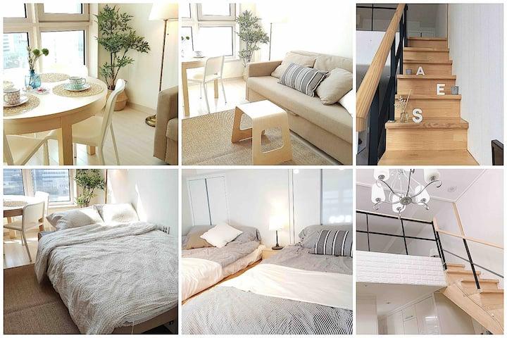 *[복층Duplex]* Haeundae Beach 3min 라텍스 latex bed #1호