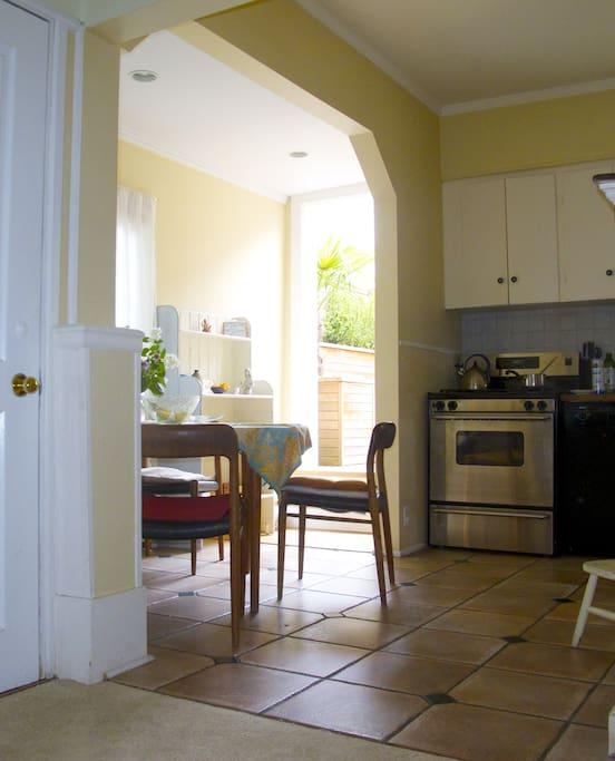 Kitchen and Door to Patio
