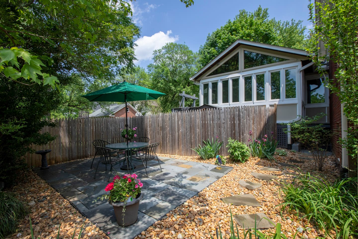 Private entrance and patio