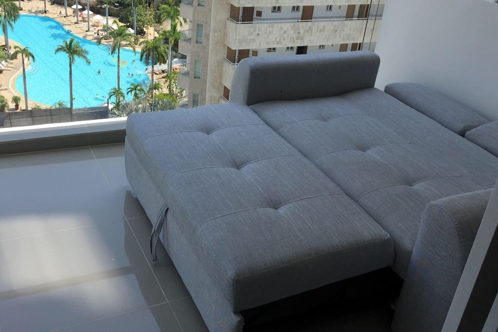 Sofa converts into double bed