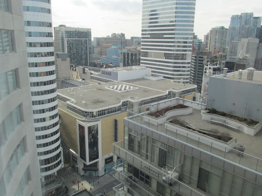How downtown is this!? - Eaton's Center visible from my window :)