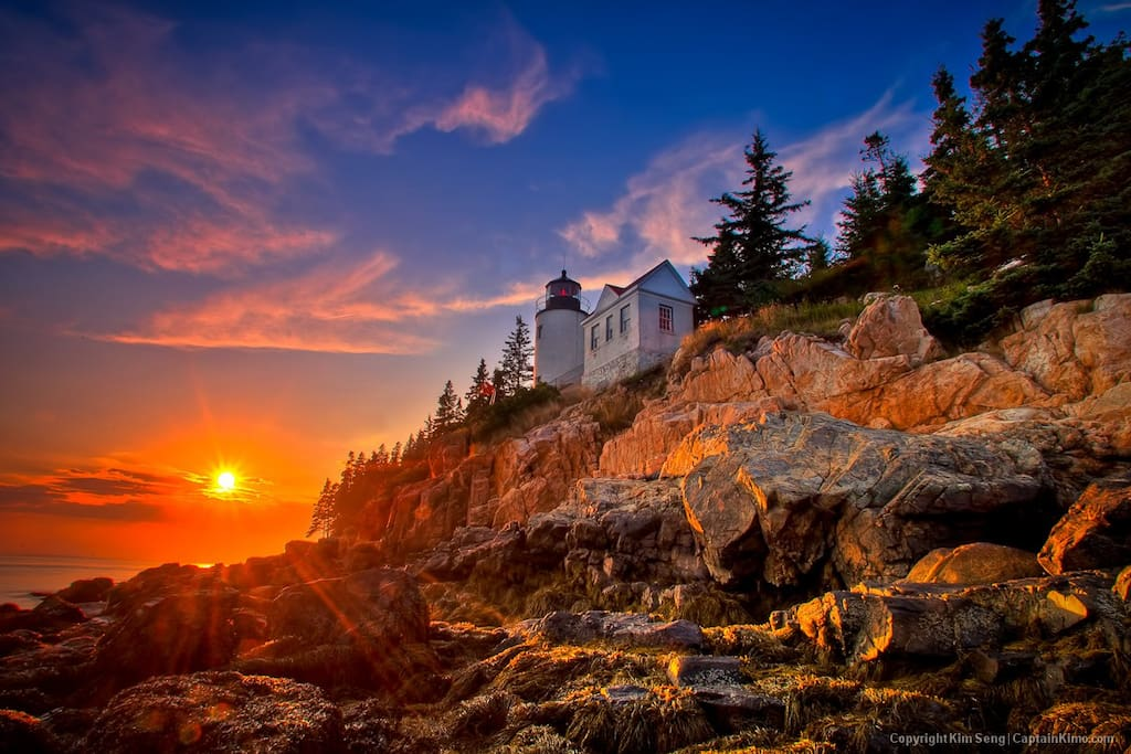 Sunset at Bass Harbor Light House