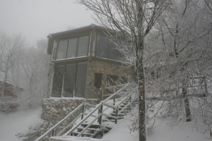 The Aspen Ski Loft at Beech Mountain, 50 steps from the ski slopes.