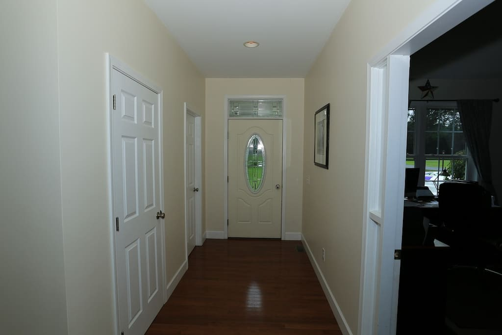 Front hall to third bed room
