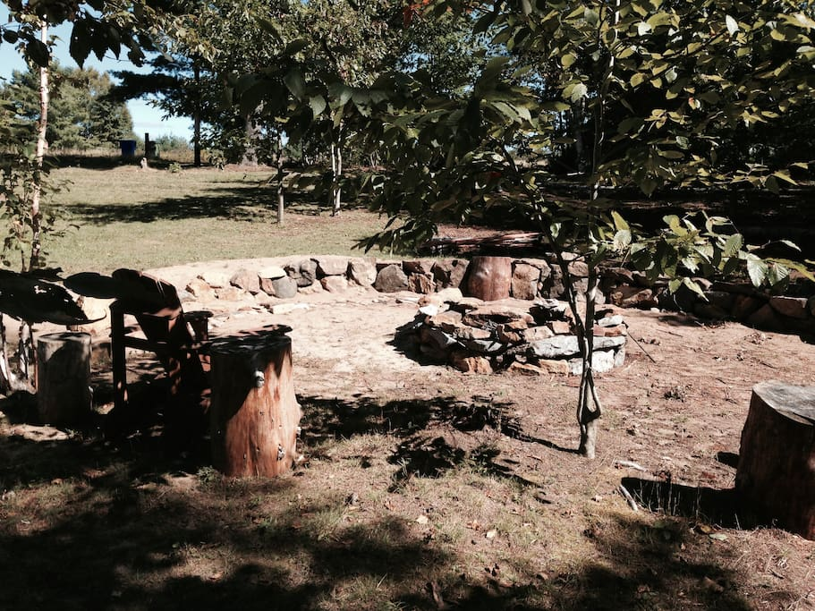 """Survivor"" fire pit area"