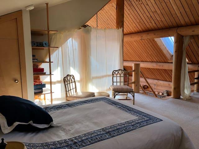 Loft queen bed.