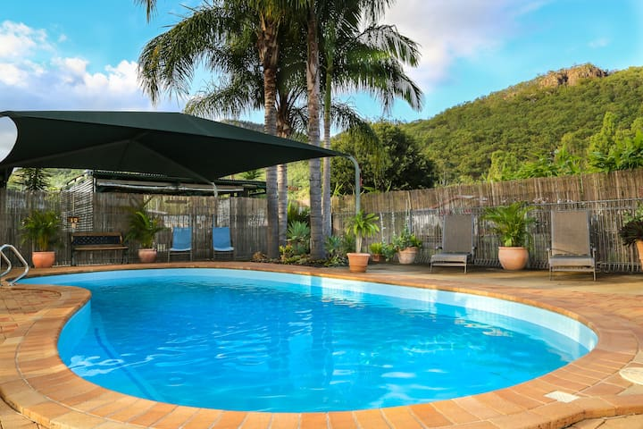 Temperature controlled pool.