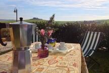Breakfast in the private garden