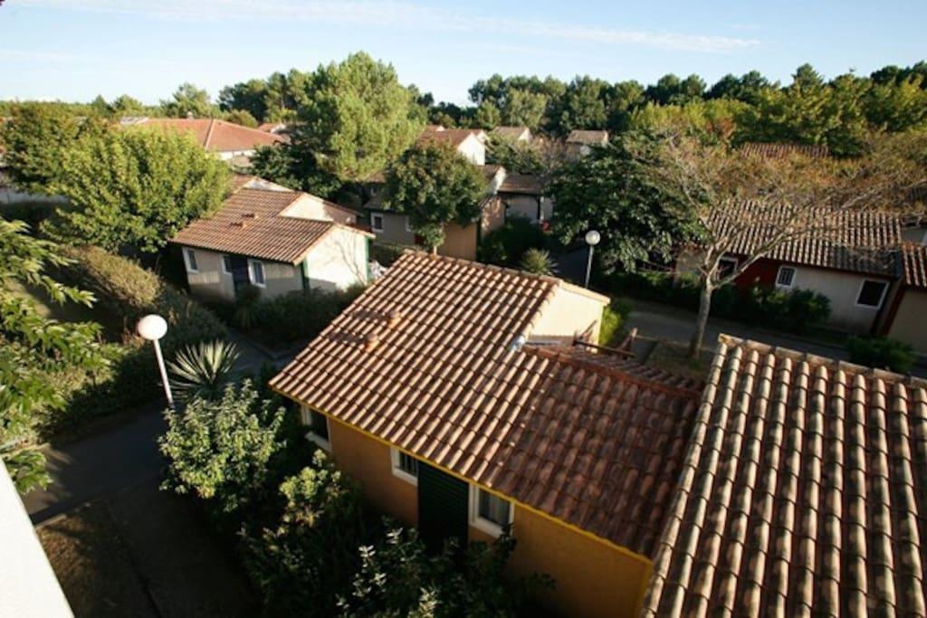Vista aerea de la comunidad.