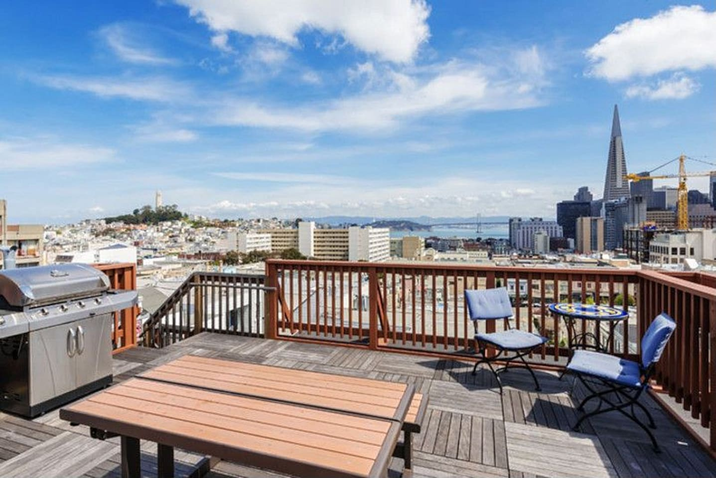 Shared roofdeck with BBQ grills you may use.