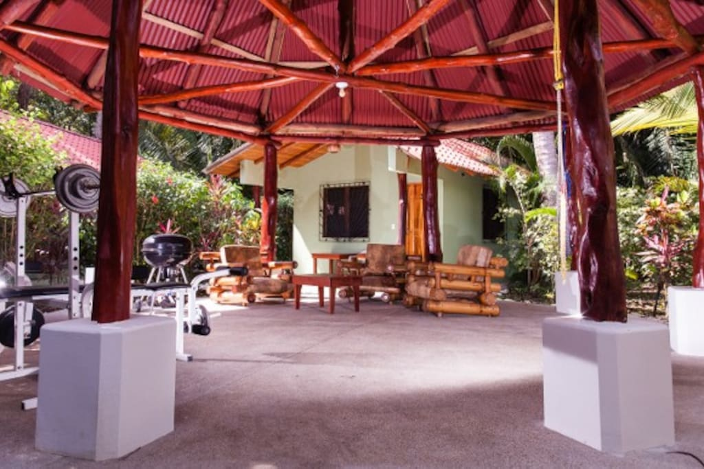 The cabins are situated around a rancho which is a common living area for all guests.