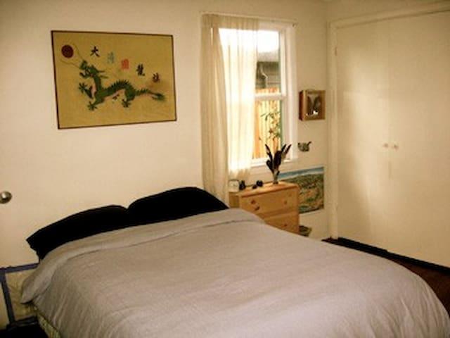 Bedroom in artistic Northwest home