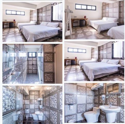 2017All new apartment/四人房套房(可付費加床至六人)
