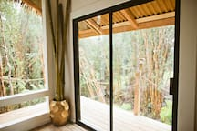 Two sliding glass doors act as your portals to the wrap around lanai