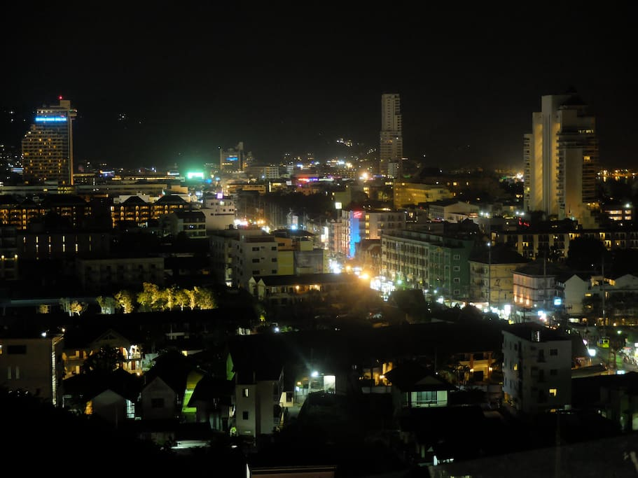 view from the roof top at night