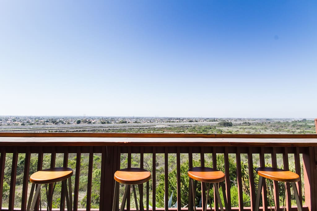 Back balcony: View of the city of Huntington Beach (and Talbert Nature Preserve)