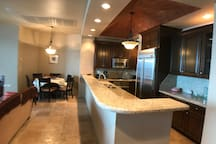 Kitchen open to the dinning area.