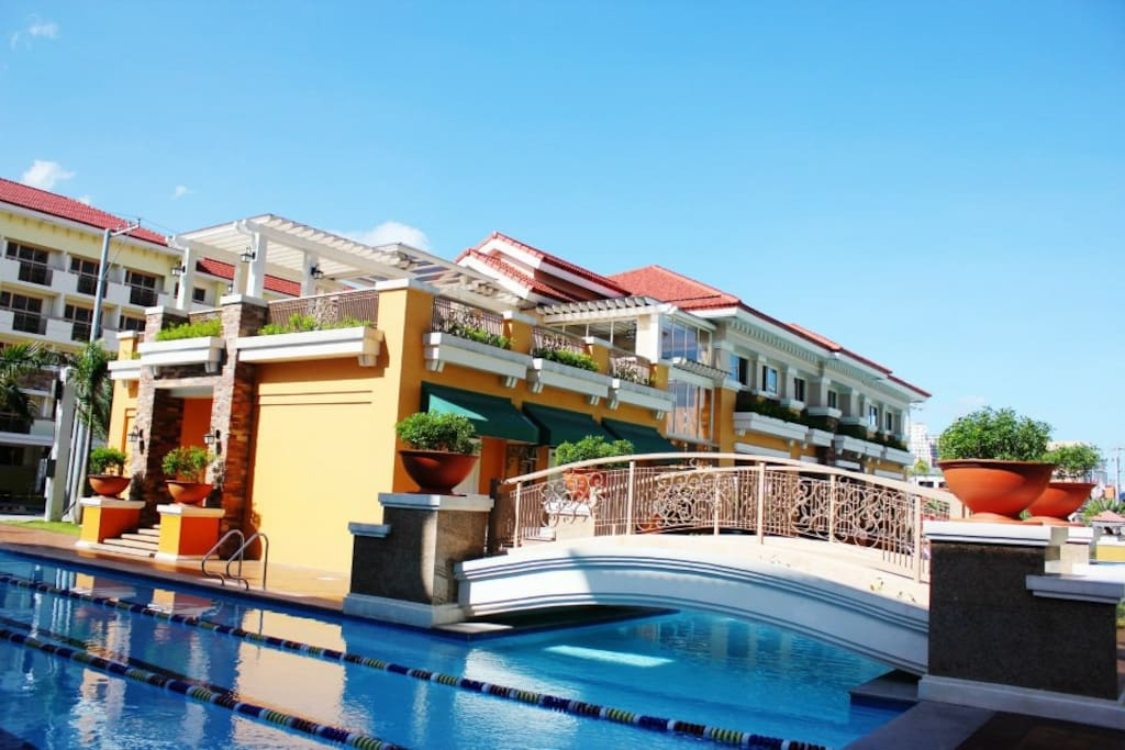 Beside the Clubhouse is the Lap pool