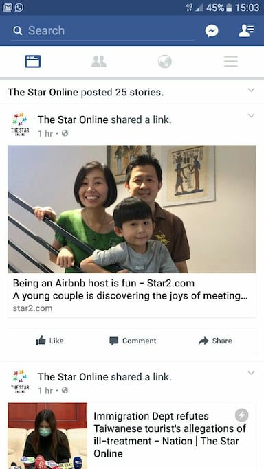 Here's our humble Airbnb hosting journey featured on local largest newspaper, The Star, http://www.star2.com/people/2017/03/18/being-an-airbnb-host-is-fun/
