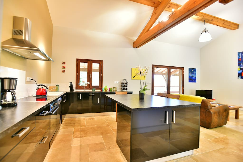 A large and spaceful kitchen