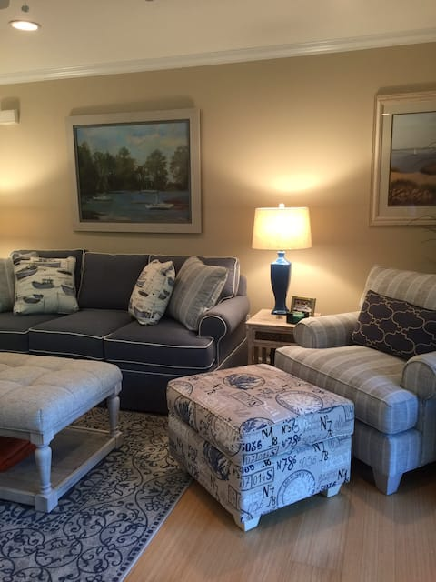 Waterfront condo in gated community