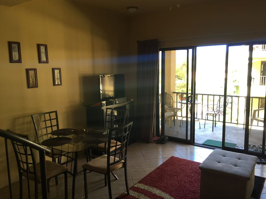 Dining Area/View to first balcony